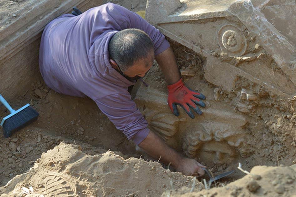 Late Roman Era Sarcophagus Found By Turkish Farmer