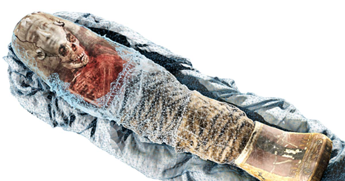 Tech Shows 2,000-Year-Old Mummy of a Little Girl in Amazing Detail