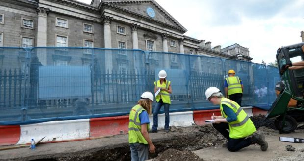 Skeletal remains found amid Luas works outside Trinity