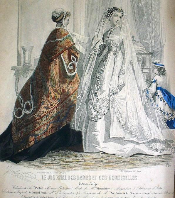1867 wedding dress