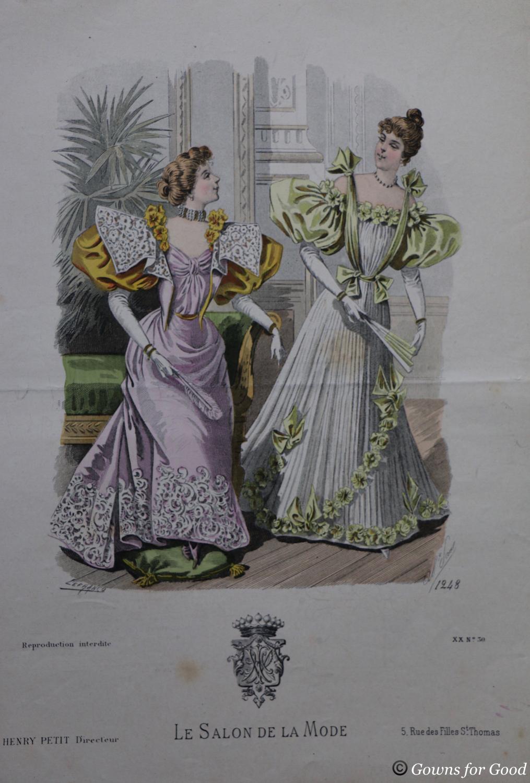 1898 ca evening dress project