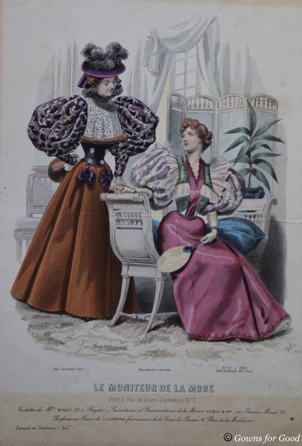 1895-1900 evening or reception gown project
