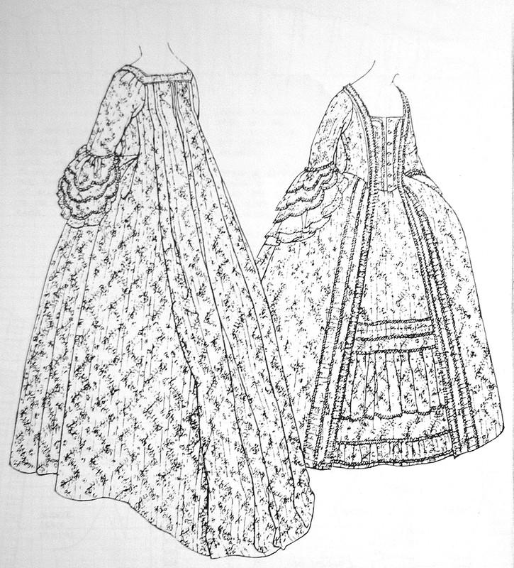 18th century dress janet arnold - robe 18ème siècle