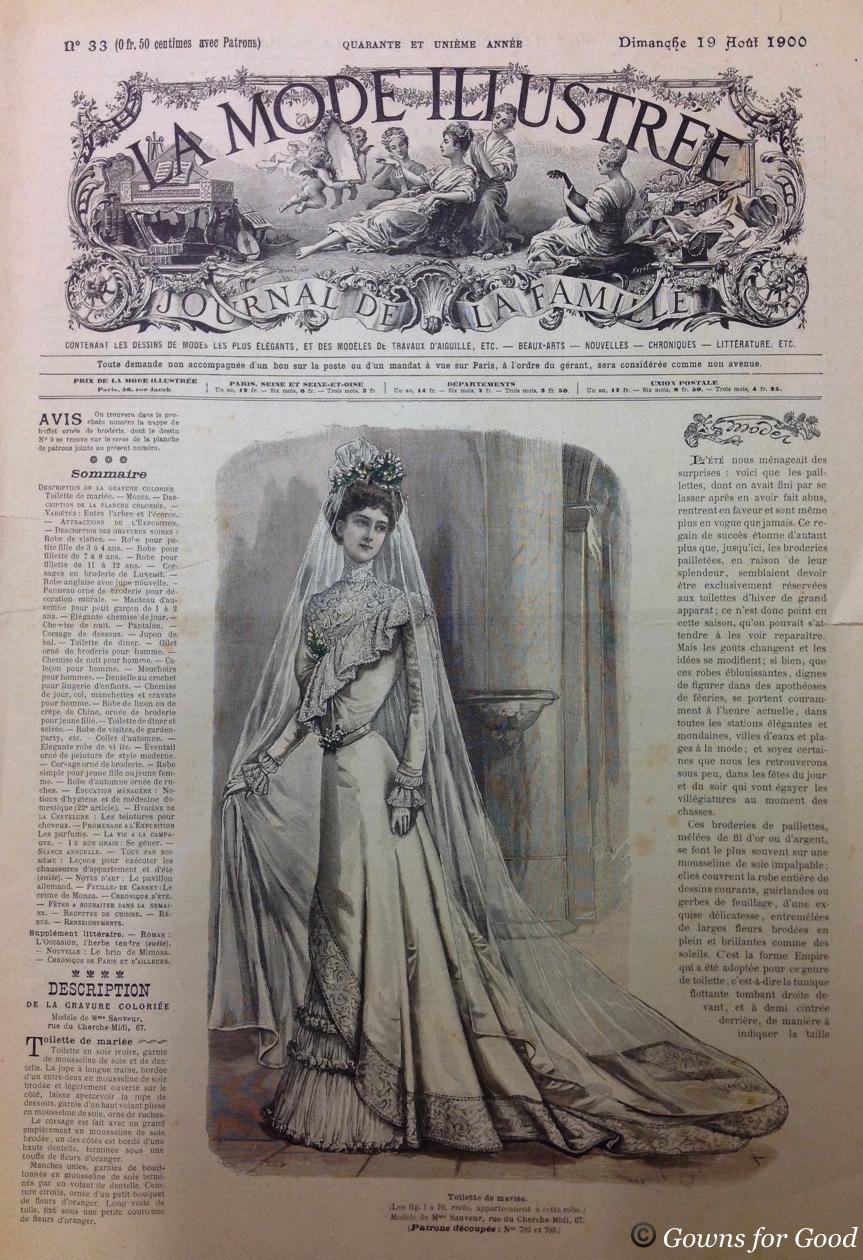 1900 Mode illustrée wedding dress