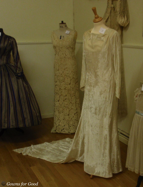 1936 silk velvet wedding dress