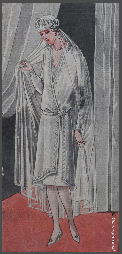 1927 wedding dress from the Praktische Damen- und Kinder-Mode project