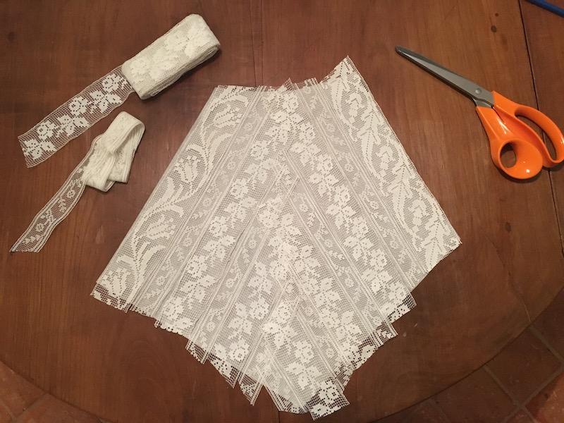 1920s filet lace summer dress