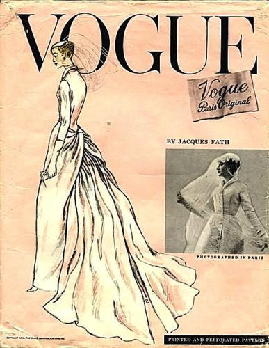 1956 Vogue wedding dress by Fath