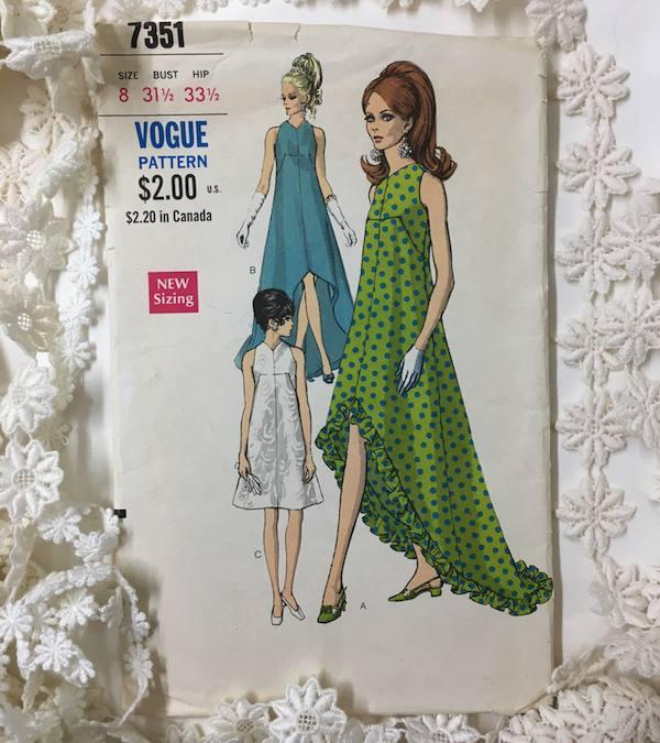 1969 Vogue for a summer wedding dress