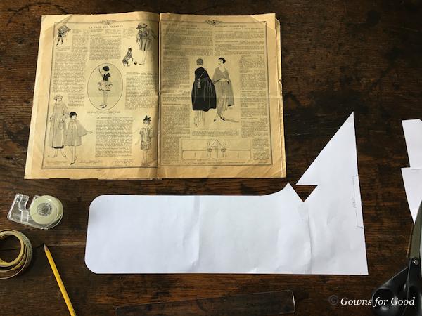 1921 Mode Pratique evening cape 1920s 20s années 20 cape de soirée
