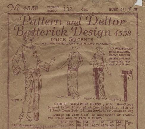 1923 Butterick evening dress