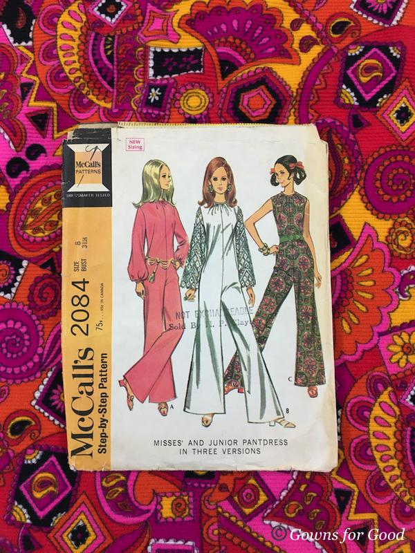 1969 mccall's jumpsuit pattern psychedelic 1960s patron catsuit combinaison psychédélique