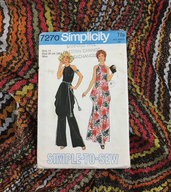 1975 Simplicity evening skirt and tunic