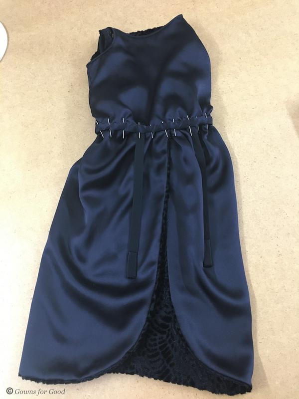 1923 evening dress black flocked velvet 1920s années 20 robe de soirée