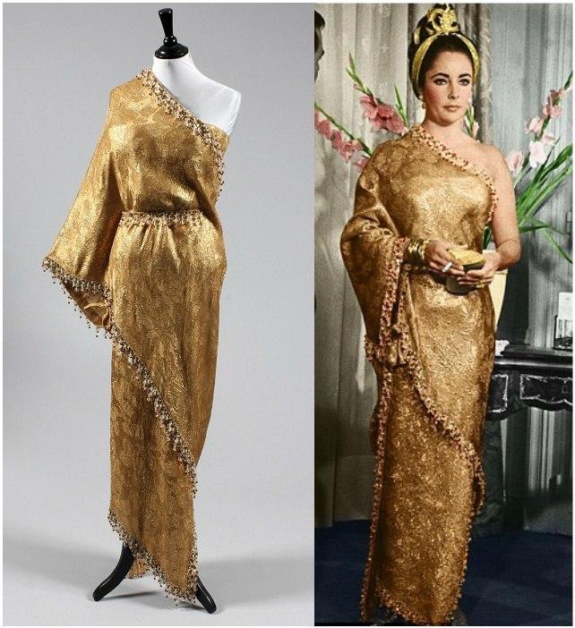 1962 Vogue sari evening dress 1960s années 60 robe de soirée saree 1964 Elizabeth Taylor
