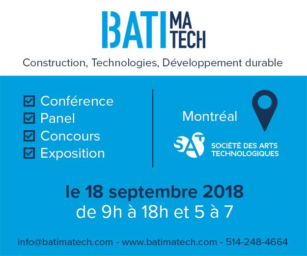 Batimatech 2018 Construction technologies développement durable