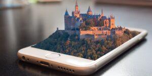 Batimatech- chateau 3D sur téléphone intelligent - mobile-phone-1875813_1920