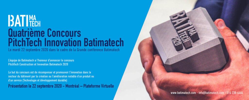 visuel concours Pitchtech innovation construction Batimatech 2020