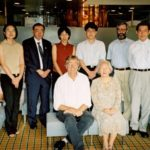 Photo of Hubert Schmitz and participants at Alumni Meeting in Tokyo 2001