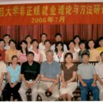 Photo of Hubert Schmitz and students at Fudan University, Shanghai 2006