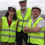 Photo of Hubert Schmitz with Ana Pueyo and Stephen Spratt at KenGen plant 2015