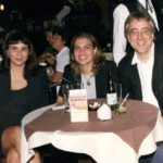 Photo of Hubert Schmitz with Luiza Bazan and Lizbeth Navas-Aleman in Porto Alegre 1998
