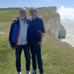 Photo of Hubert Schmitz with Dirk Messner at Seaford Head 2016