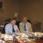 Photo of Hubert Schmitz and John Humphrey at Workshop in Beijing 2009