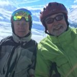 Photo of Hubert Schmitz and Mick Moore skiing in Austria 2016