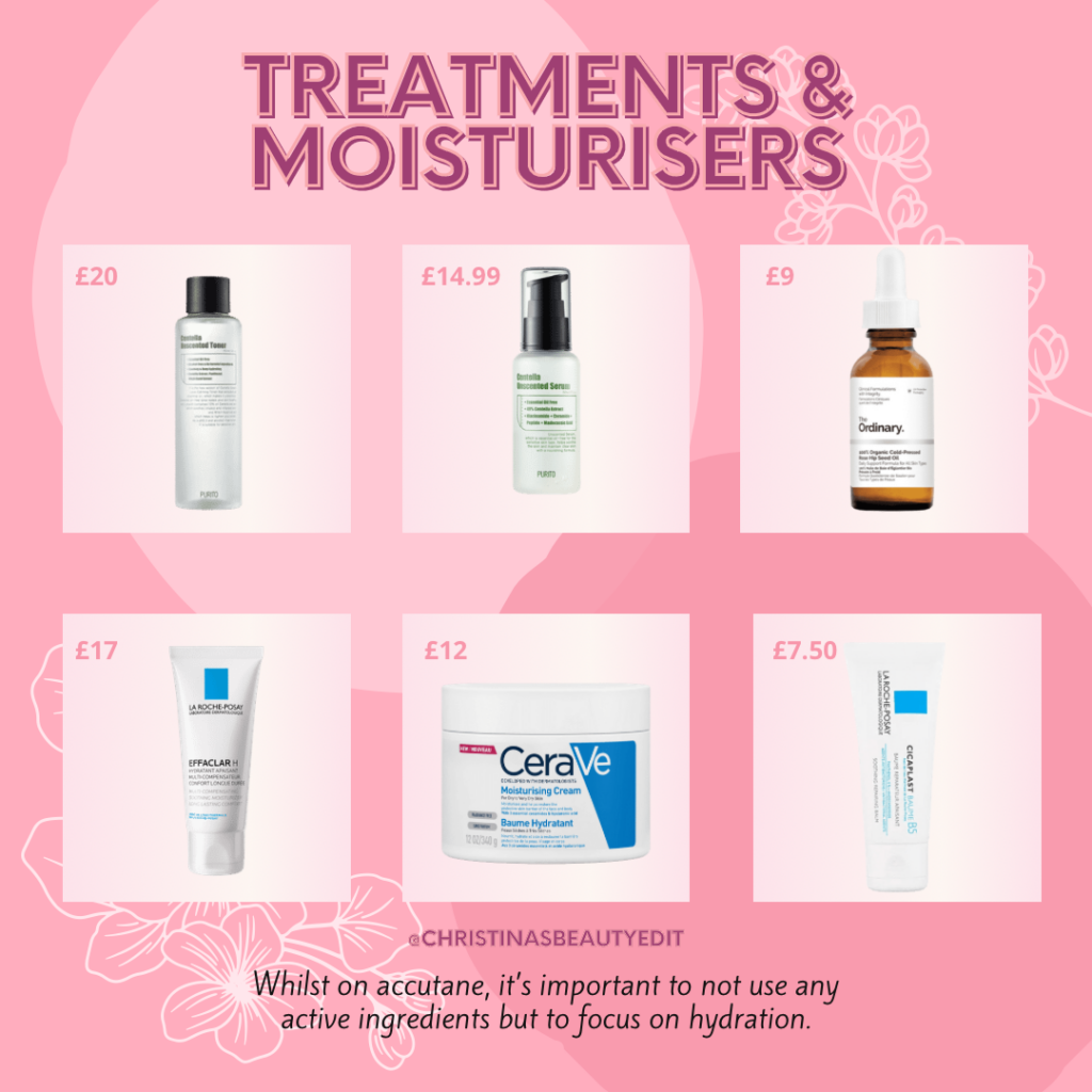 Treatments & moisturisers for when you're on accutane