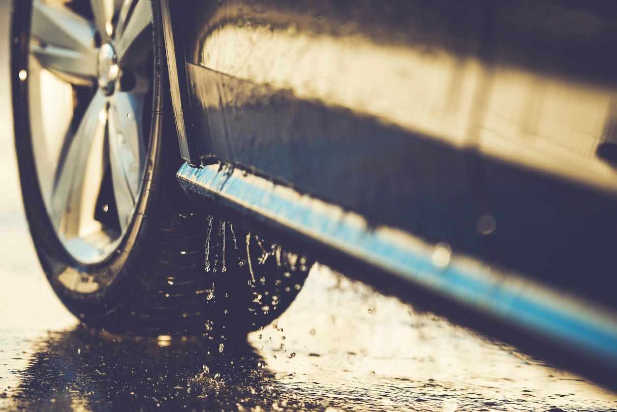 car dripping wet