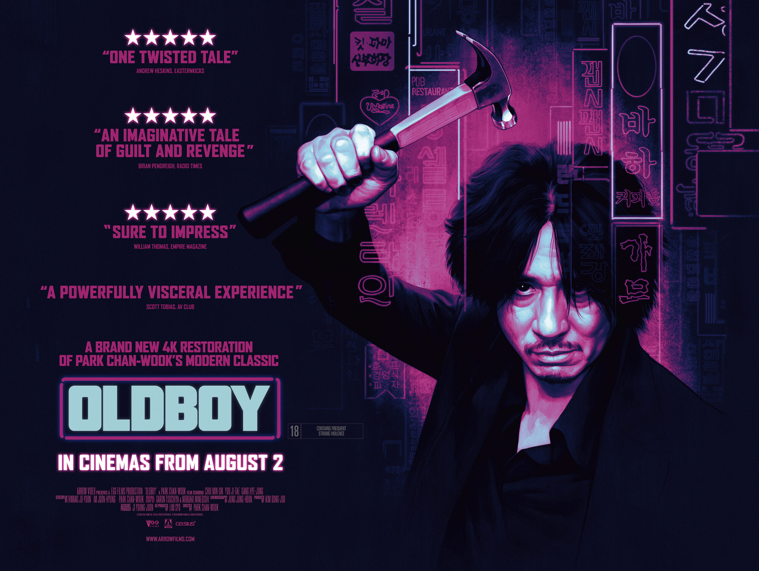 "NEW 4K RESTORATION OF ""OLDBOY"" COMING TO CINEMAS"