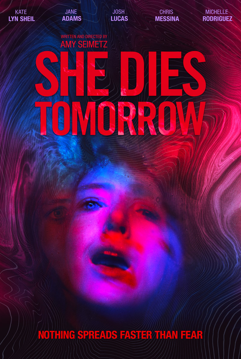 Blue Finch Film Releasing presents Amy Seimetz's neon-soaked nightmare SHE DIES TOMORROW on Curzon Home Cinema and Digital Download