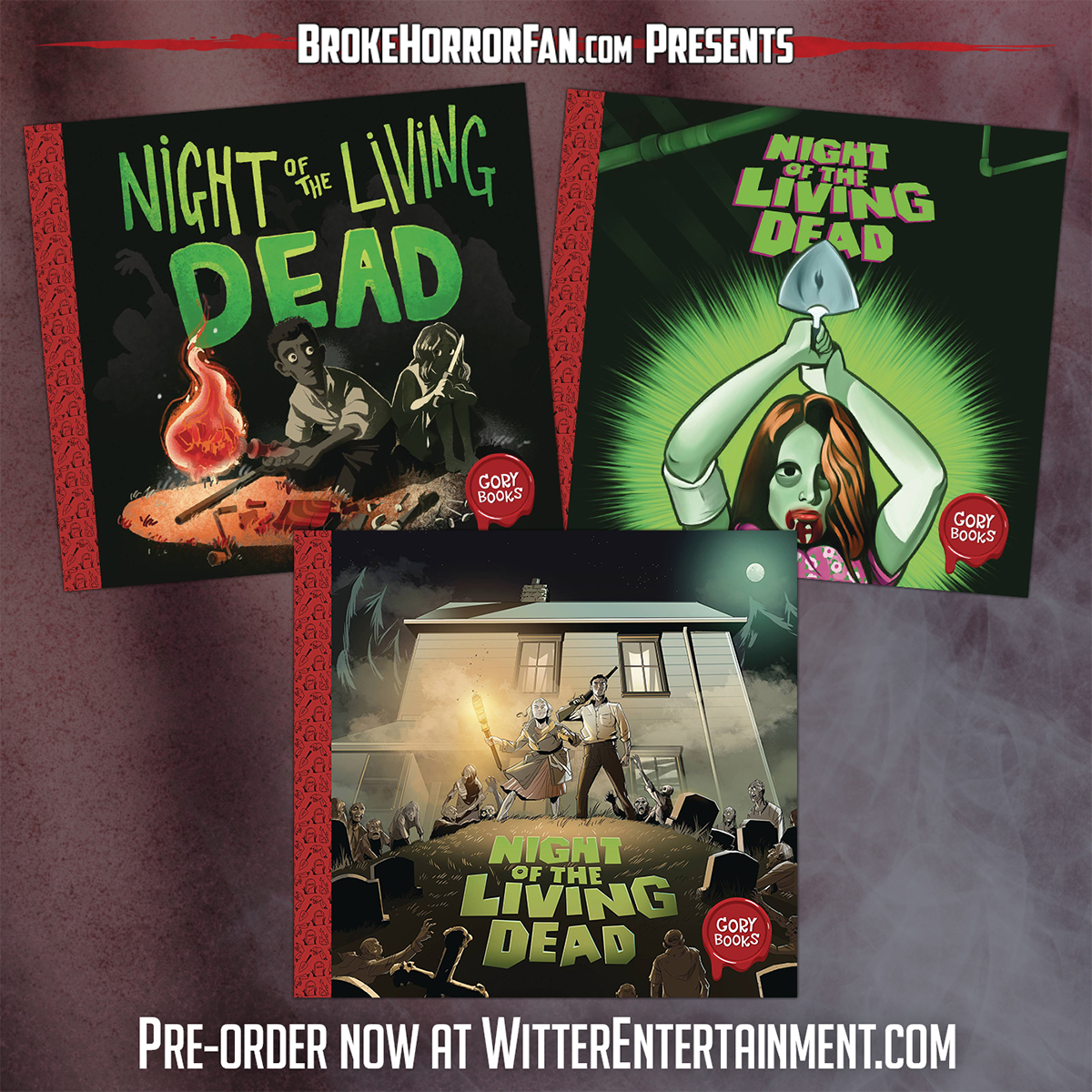 Gory Books are coming, pre-order now!