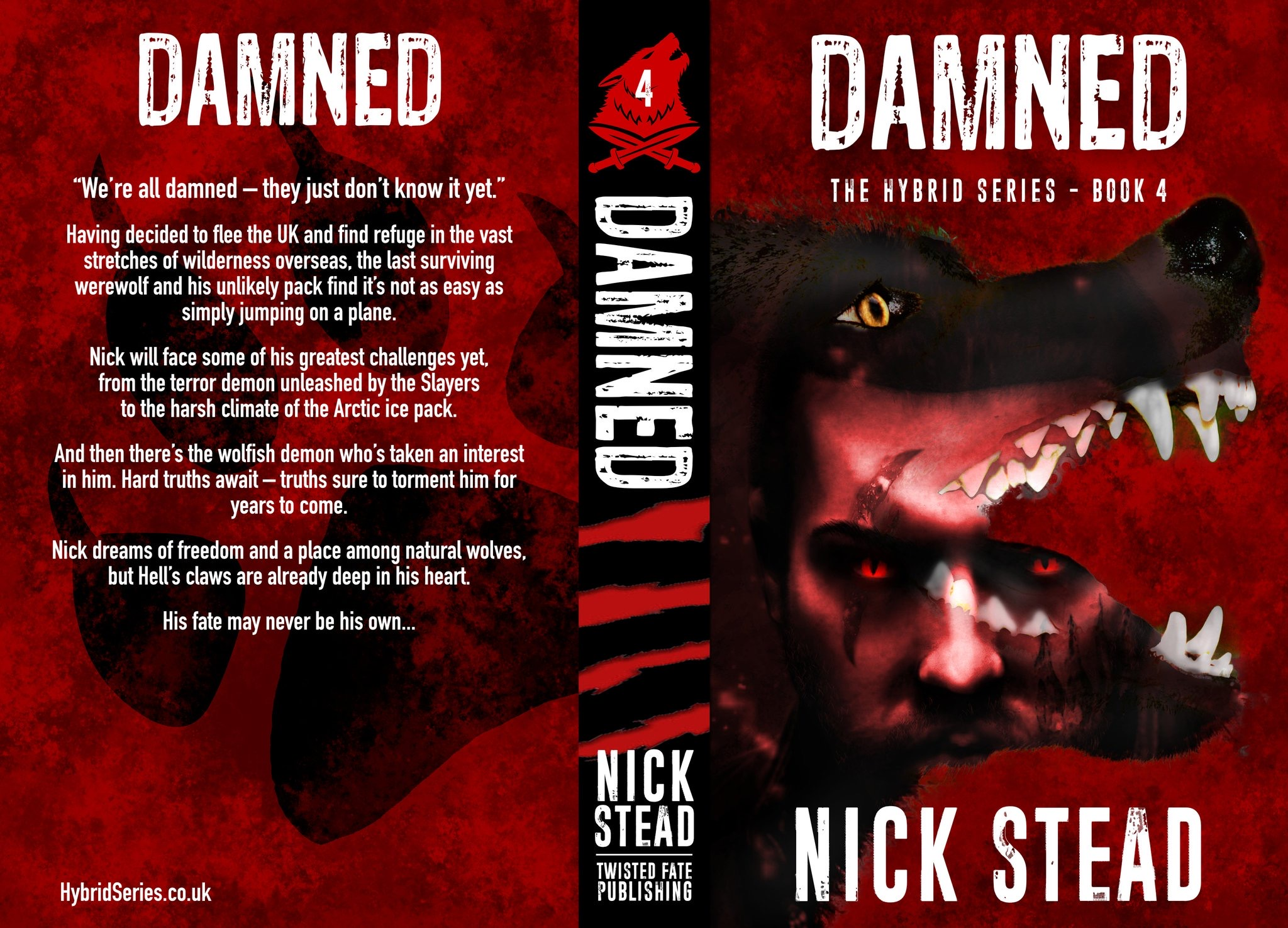 New horror novel 'Damned' from horror author Nick Stead is available to pre-order now