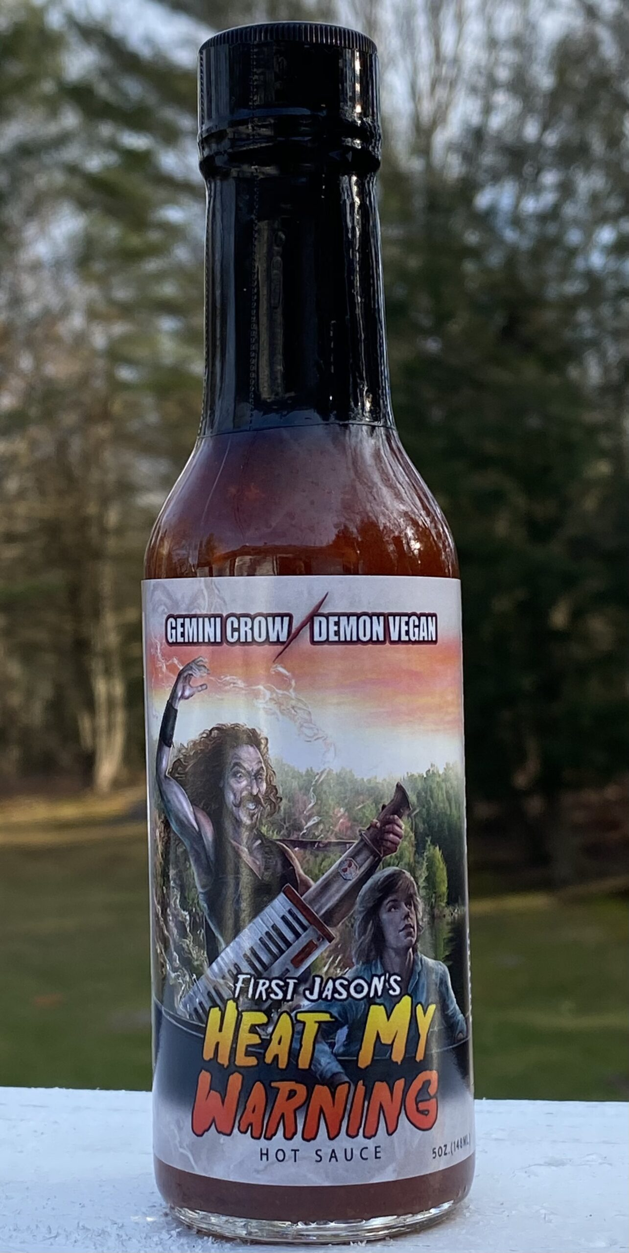 FIRST JASONs HEAT MY WARNING  NEW HOT SAUCE FROM GEMINI CROW