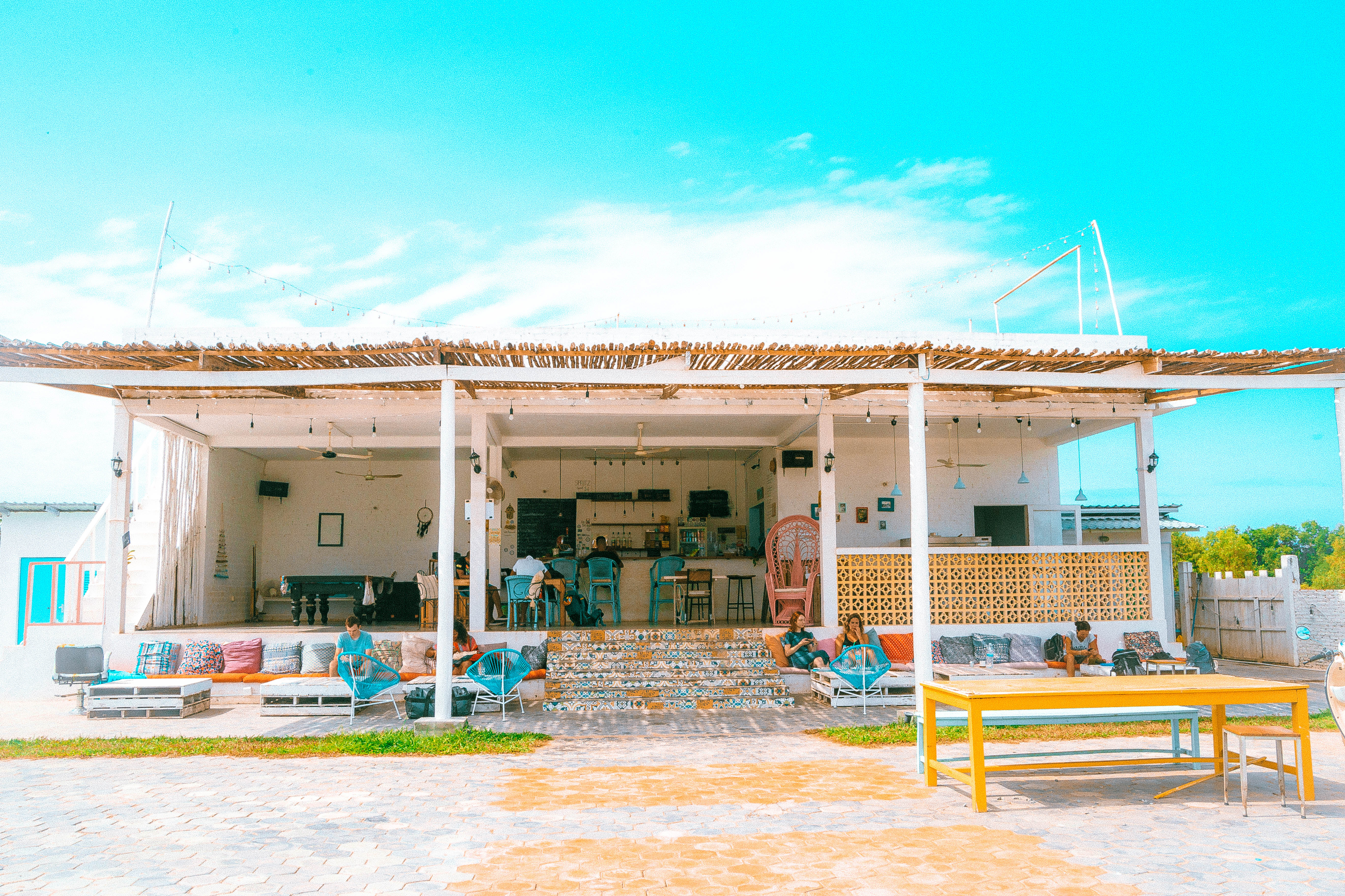 boho hostel in sihanoukville cambodia with a nice chilling area and accomodation