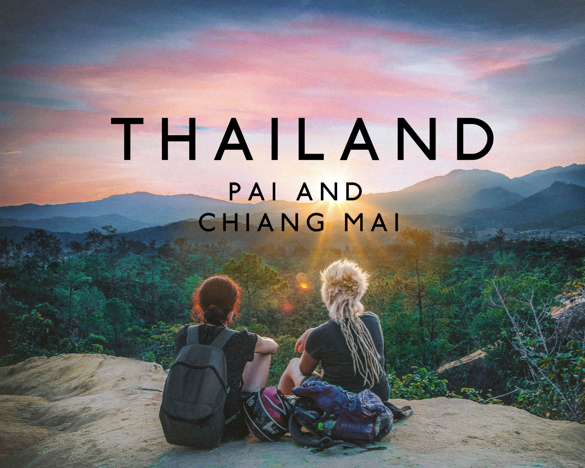 watching the sunset in pai canyon north thailand love culture nature beauty