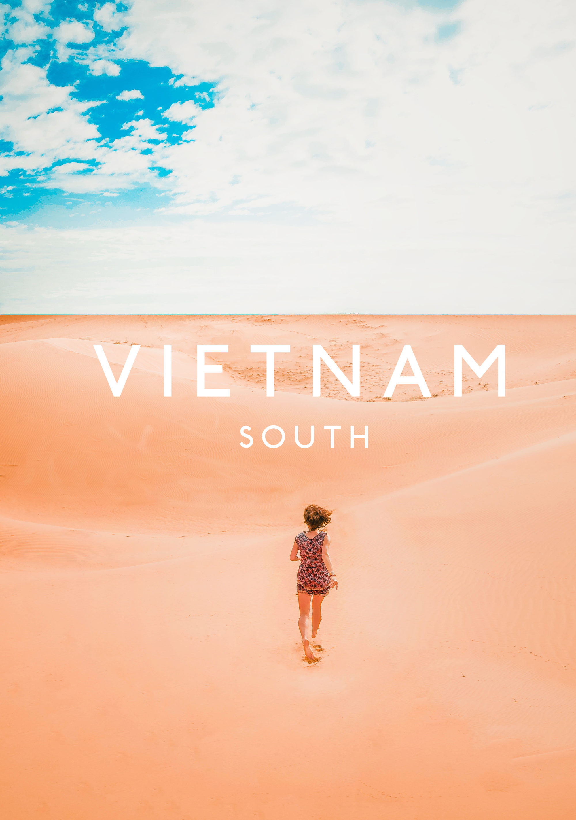 vietnam mui ne sand dunes running free sky is blue