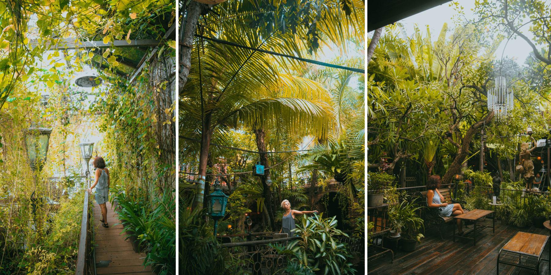 bali la favela amazing interior jungle green bar restaurant canggu