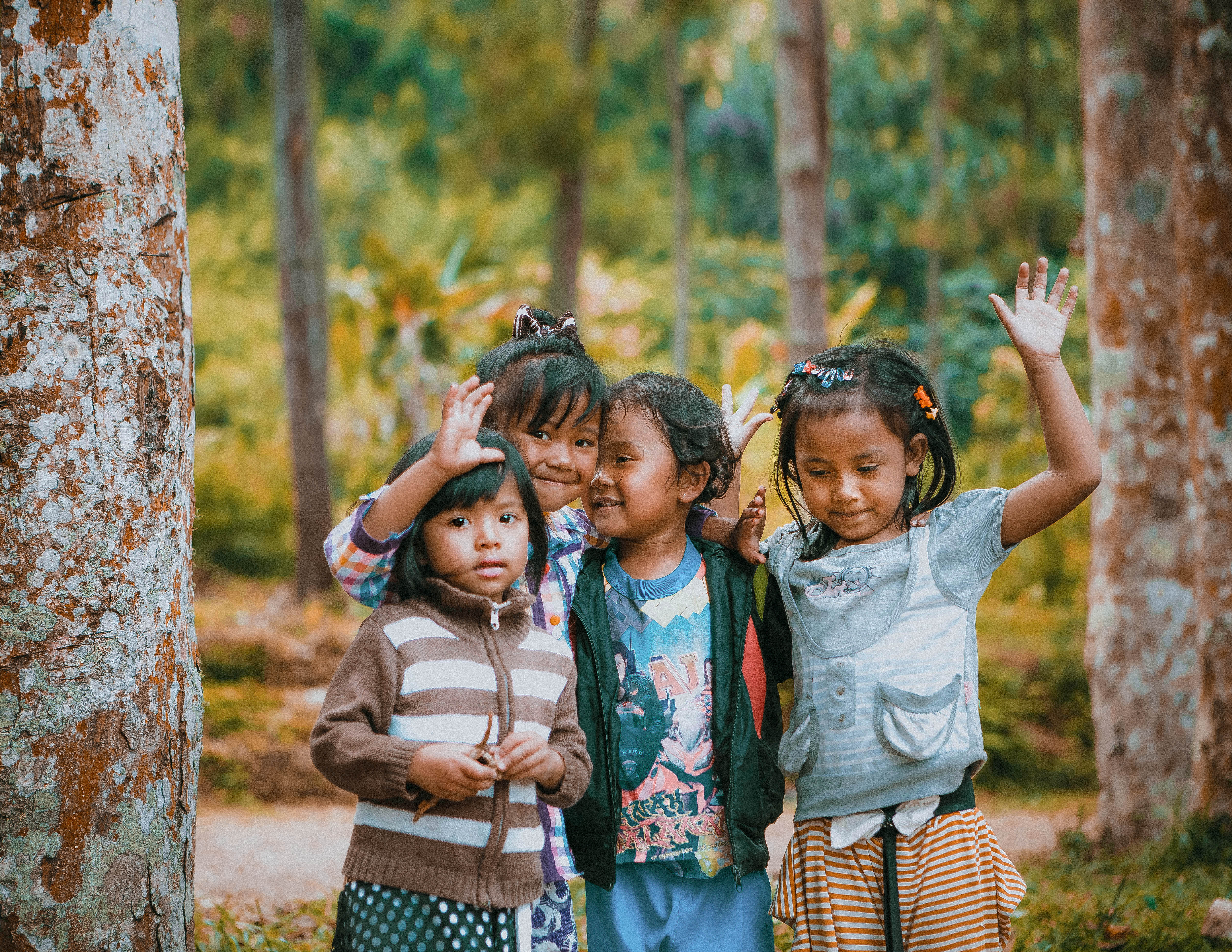 kids local people in bandung west province culture everyday life local community smiley children