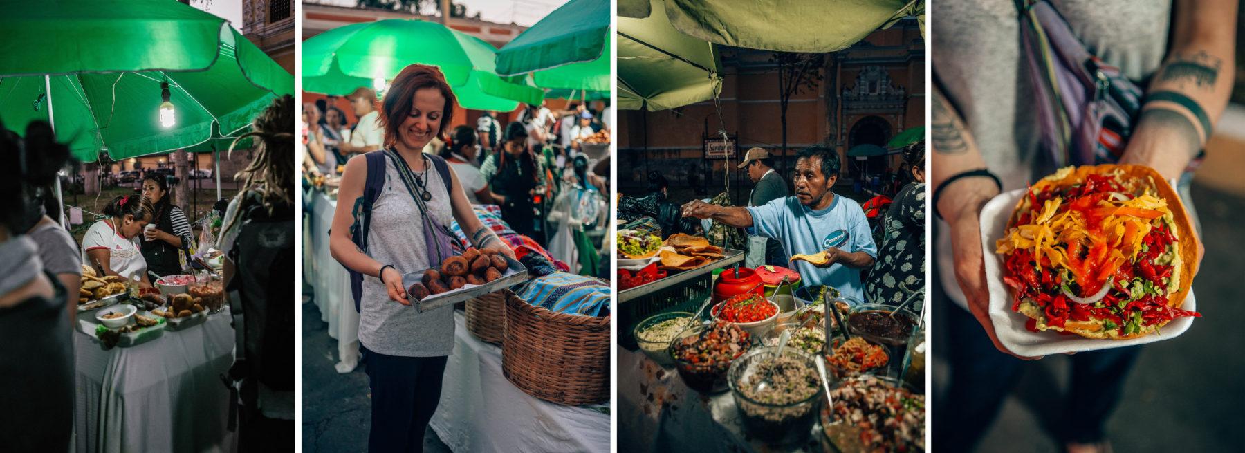 guatemala colourful healthy vegan food authentic vegan version of tacos antigua samsara cruelty free street food