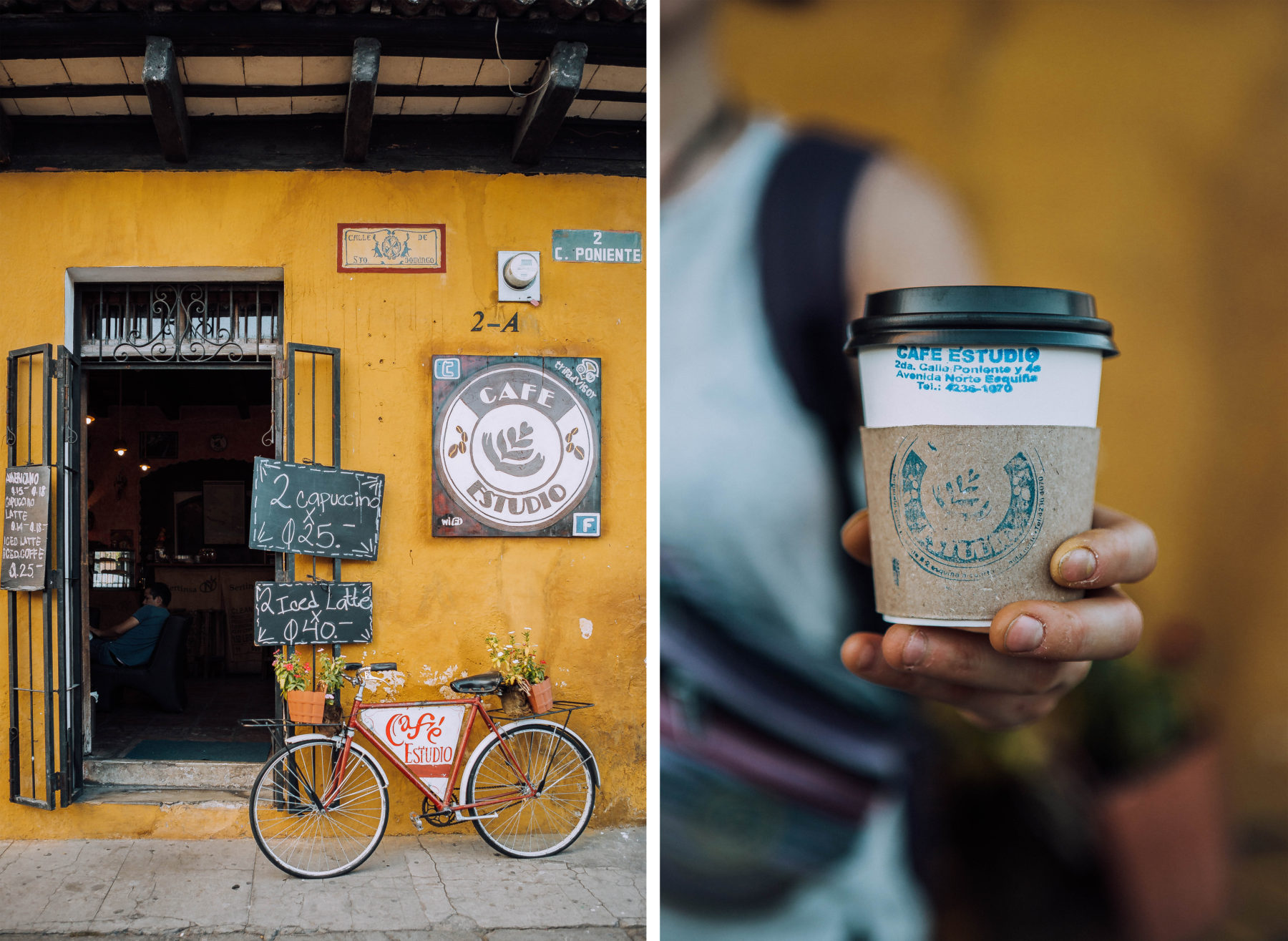 antigua guatemala colourful colonian central america local people volcano streets coffee shops discovering
