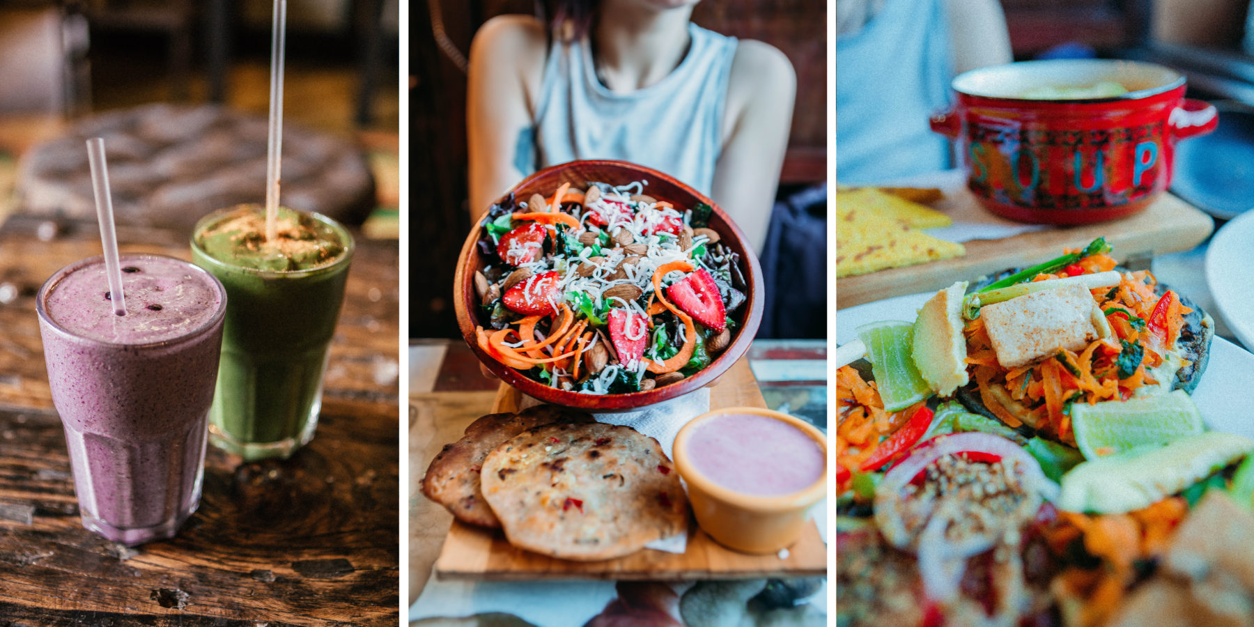 guatemala colourful healthy vegan food authentic vegan version of tacos antigua samsara cruelty free