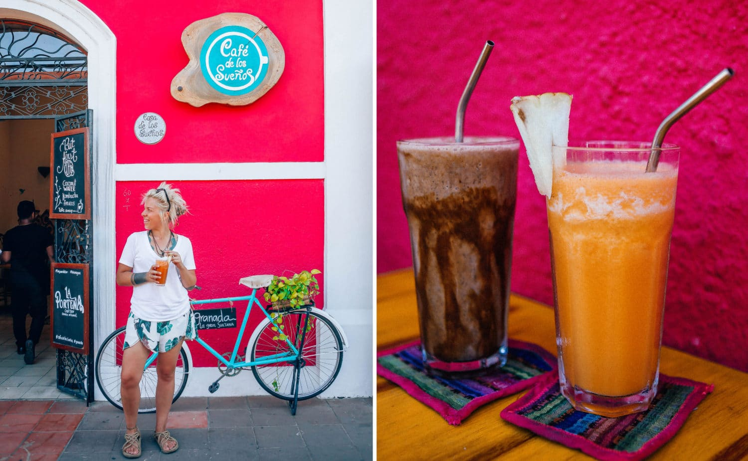 granada nicaragua local family everyday life nica spanish school colourful houses colourful street casa xalteva local culture horse houses colonial architecture vegan food healthy smoothie where to eat