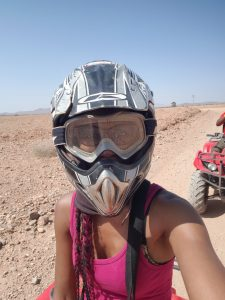 Safety helmet and goggles