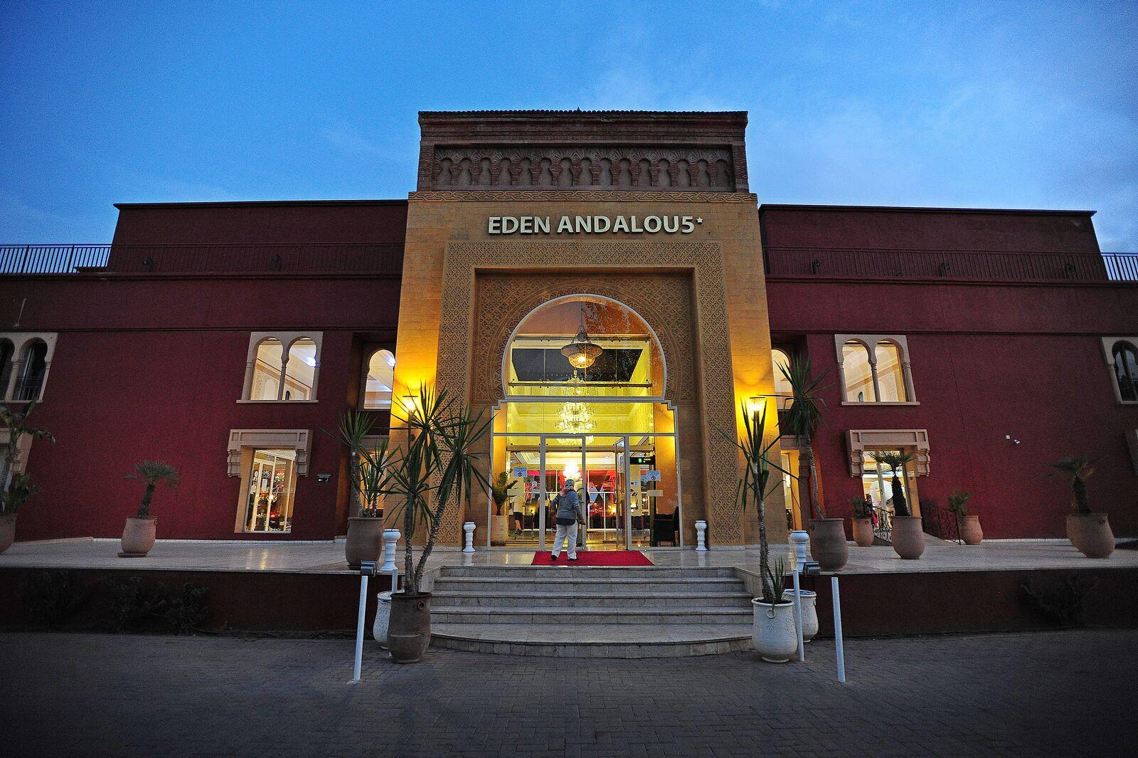 Main entrance to Eden Andalou Hotel