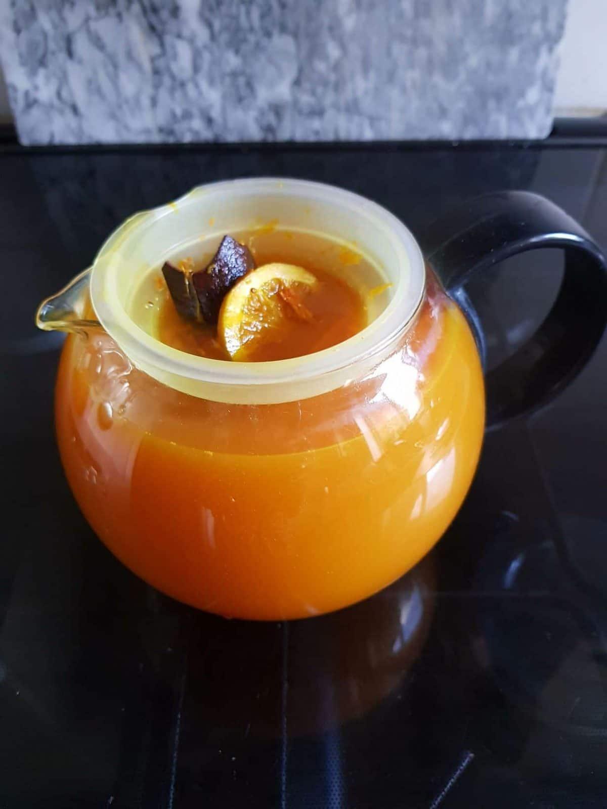 Shelly's Turmeric Tonic in teapot