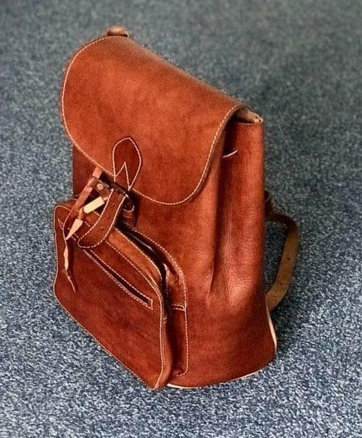 tan camel skin rucksack