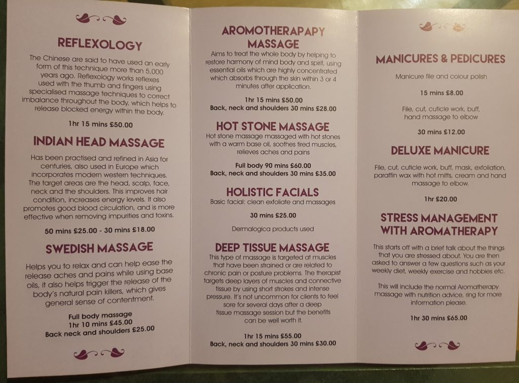 Palms of Bliss leaflets